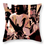 Jesus Rides Into Jerusalem Throw Pillow