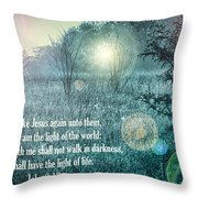 Jesus The Light Of The World Throw Pillow