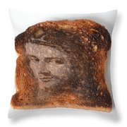 Jesus Toast Throw Pillow by Photo Researchers, Inc.