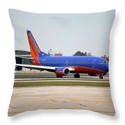 Jet Chicago Airplanes 11 Throw Pillow