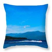 Jet Ski On Priest Lake Throw Pillow