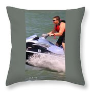 Jet Ski Speed Throw Pillow