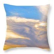 Jet Sunset Throw Pillow