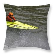 Jetboat In A Race At Grants Pass Boatnik Throw Pillow