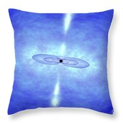 Jets Formed During A Grb Event Throw Pillow by NASA / Science Source
