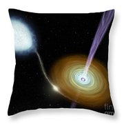 Jets Of Material Shooting Throw Pillow by Stocktrek Images