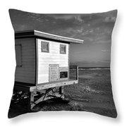 Jetty Park Beach Throw Pillow