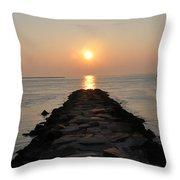 Jetty Sunrise Throw Pillow