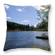 Jewel Lake Beach Chair Throw Pillow