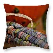 Jewel Tone Kernels Throw Pillow