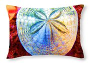Jeweled Sand Dollar Throw Pillow