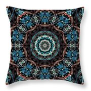 Jeweled Turquoise Throw Pillow