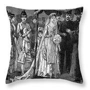 Jewish Wedding, C1892 Throw Pillow