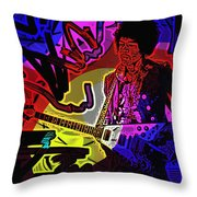 Jimi Hendrix Number 22 Throw Pillow