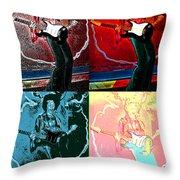 Jimmy Hendrix Pop Throw Pillow
