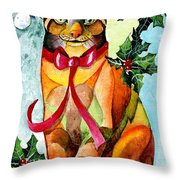 Jingle Cat Throw Pillow