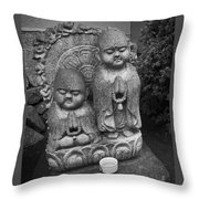 Jizo Bodhisattva Deities- Daitoku-ji Temple Japan Throw Pillow