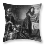 Joan Of Arc, French National Heroine Throw Pillow