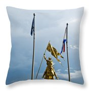Joan Of Arc Statue II Throw Pillow