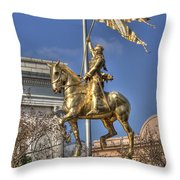 Joan Of Arc Statue New Orleans Throw Pillow