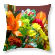 Joannes Flowers Throw Pillow