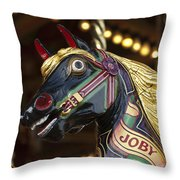 Joby The Carousel Horse Throw Pillow