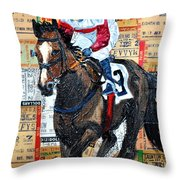 Jocky 3 Throw Pillow