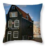 Jodenbreestraat 1. Amsterdam Throw Pillow