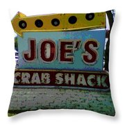 Joe's Crab Shack Throw Pillow