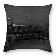 Joey Again Throw Pillow