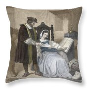 Johannes Gutenberg, German Inventor Throw Pillow