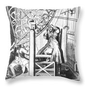 Johannes Hevelius And His Assistant Throw Pillow
