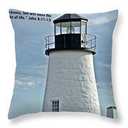 John 8 V11 12 13 Throw Pillow