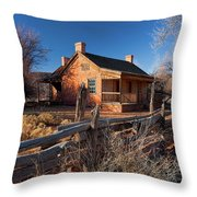 John And Ellen Wood Home Throw Pillow