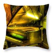John Broadwood And Sons Grand Piano Throw Pillow