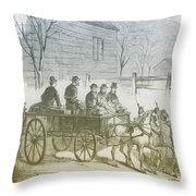 John Brown, American Abolitionist Throw Pillow