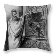 John Brown Exhibiting His Hangman, 1863 Throw Pillow by Photo Researchers