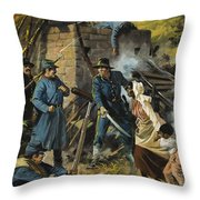 John Brown On 30 August 1856 Intercepting A Body Of Pro-slavery Men Throw Pillow