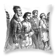 John Brown Trial, 1859 Throw Pillow