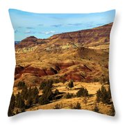 John Day Blue Basin Throw Pillow