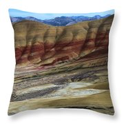 John Day Painted Hills Throw Pillow