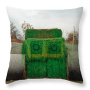 John Deer Made Of Hay Throw Pillow