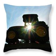 John Deere In The Morning Sun Throw Pillow