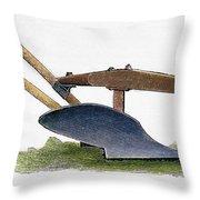 John Deere Plow Throw Pillow