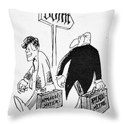 John F. Kennedy Cartoon Throw Pillow