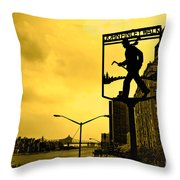 John Finley Walk V1 Throw Pillow