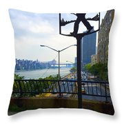 John Finley Walk V11 Throw Pillow