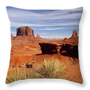 John Ford Point Monument Valley Throw Pillow