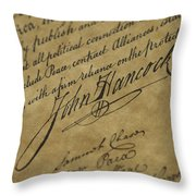 John Hancocks Signature Throw Pillow