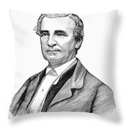John Hunn (1818-1894) Throw Pillow